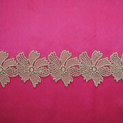 Gold Water-soluble Lace Trim from China (mainland)