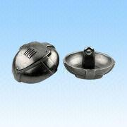 Alloy Sew-on Buttons, Measures 23mm, Come in Gun Metal from HLC Metal Parts Ltd
