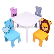 2013 popular wooden table and four chairs set