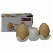 Egg-shaped Porcelain Salt and Pepper Shaker Set from China (mainland)