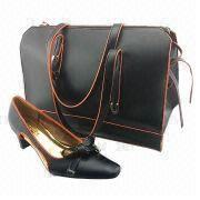 China Imitation Leather Women's Shoes with Matching Big Fashionable Bag