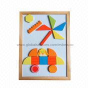 2013 popular kids' educational wooden magnetic puzzle Manufacturer