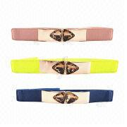 2013 new fashionable ladies' elastic stretch belts from China (mainland)