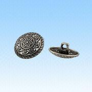 China Sew-on Metal Buttons with 15mm Socket Size, Made of Alloy