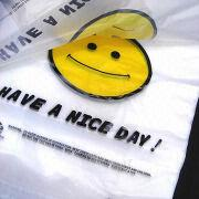 Smile T-shirt HDPE/LDPE Plastic Bag Manufacturer