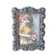 Antique Style Enamel Accents Jeweled Photo Frame from China (mainland)