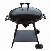 Oval charcoal grill, enamel, assorted colors