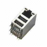 RJ45 Dual-USB Connector from China (mainland)