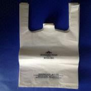 Smile T-shirt HDPE and LDPE Plastic Bag from China (mainland)