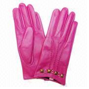 Fuchsia PU Gloves from China (mainland)