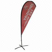 13ft Feather Flag with Digital Printing on Both Sides, Including Carry Bag