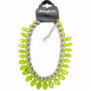 Bright Green Acrylic Stones Necklace Manufacturer
