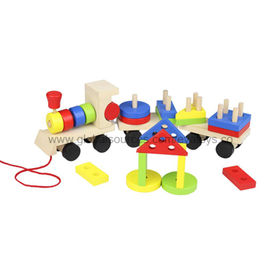 2013 Wholesale Kids' Wooden Pull Train Manufacturer