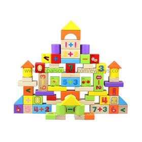 2013 Popular Wooden Building Block Set Manufacturer
