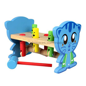 China 2013 top wooden hammer toy for kids, measures 23x16x14.5cm, confirms to EN 71 test