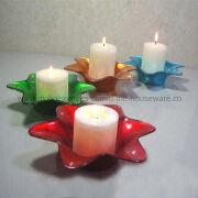 China Glass Candle Holder