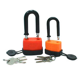 Waterproof padlock with PVC jacket and bumper from Kin Kei Hardware Industries Ltd