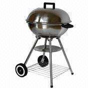 China Stainless Steel Kettle Charcoal Grill, 18-inch with Storage Rack