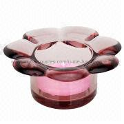 China Glass Flower Candle Holder