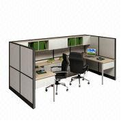 Black and White U-shaped Combined Staff Desks from China (mainland)