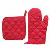Red Oven Mitts from China (mainland)