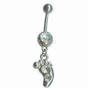 Crystal Foot Navel Ring from China (mainland)
