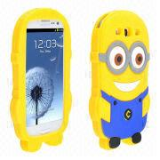 China Cartoon Soft Silicone Cases for Samsung Galaxy S3 i9300, OEM Orders Accepted