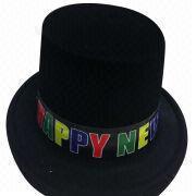 Hong Kong SAR Sombreros impresos del partido para el festival, hechos del PVC, tienda de fábrica, órdenes de OEM/ODM dadas la bienvenida