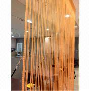 3 x 3m Orange Door Curtain, Made of Imitation Silk Material