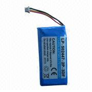 Li-polymer Battery, 3.7V/1,100mAh, 1S2P, 502447 Cell with PCM and 10K NTC, Lead-out Wires, Connector from Shenzhen BAK Technology Co. Ltd