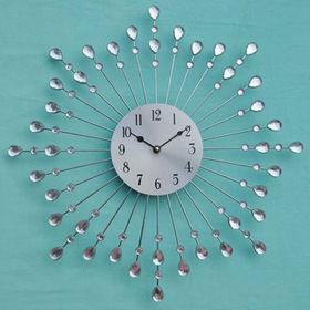 China Water Drop Design Wall Decor Metal Clock