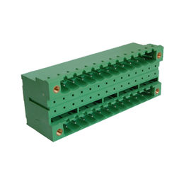 China 5.08mm double level male terminal block