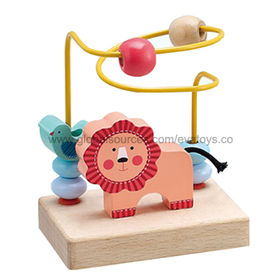 Wooden Trailer String Beads Maze Toy from China (mainland)