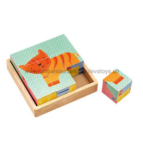 2013 Hot Selling Wooden Blocks Cube Puzzle Manufacturer