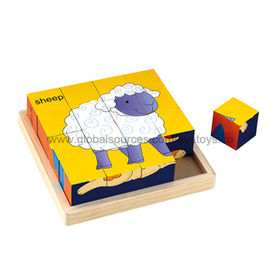 2013 Hot Selling Wooden Blocks Cube Puzzle