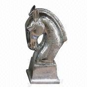 Porcelain horse head coin bank