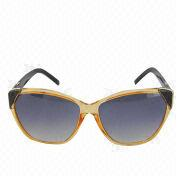 Women's Gradient Blue Lens/Black Frame/UV400-Protection Cat Eye Sunglasses from China (mainland)