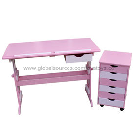 Wooden adjustable desk and cabinet from China (mainland)