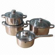 8-piece Stainless Steel Cookware Set from China (mainland)
