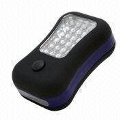 LED Work Light with Hook, 24 LEDs in the Front and 4 LEDs on Top, Plastic Housing
