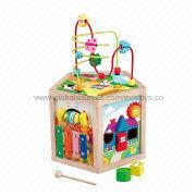 2013 Hot Selling Wooden Trailer String Beads Maze Toy Manufacturer