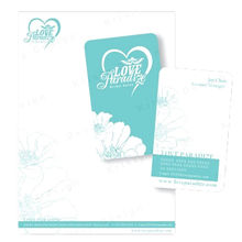 China Paper tags with hot stamping or ribbons