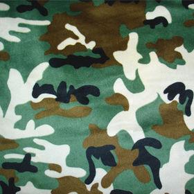 Camouflage minky fleece fabric from China (mainland)
