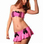 Hong Kong SAR Sexy Lingerie Costume, Decorated with Lace, ODM/OEM Orders are Accepted