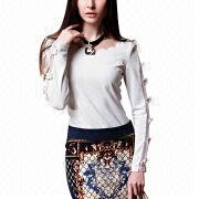 Women's autumn long sleeve blouses from China (mainland)