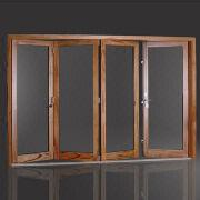 110 Series Aluminum Clad Wood Bi-fold Door from China (mainland)