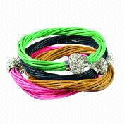 Multi-strand real leather cord from China (mainland)