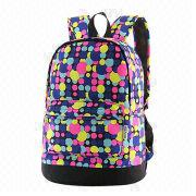 Teenage Girls' School Backpack/Sports Bag, Made of Polyester, Sized 30 x 18 x 41cm from Fuzhou Oceanal Star Bags Co. Ltd