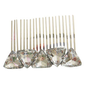 Silver Metal Hair Comb from China (mainland)