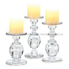 China Glass Pillar Candle Holder
